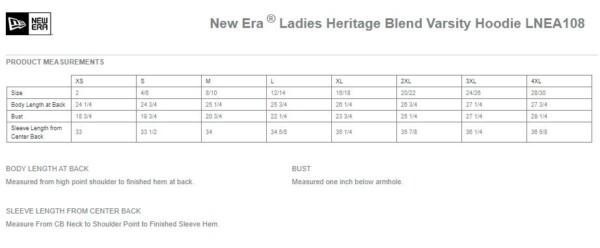 ladies-varsity-hoodie-measurements